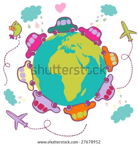 Vacation concept - cartoon vector - stock vector