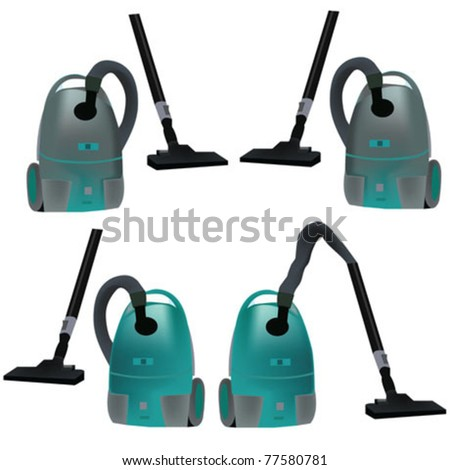 vacuum cleaner - stock vector
