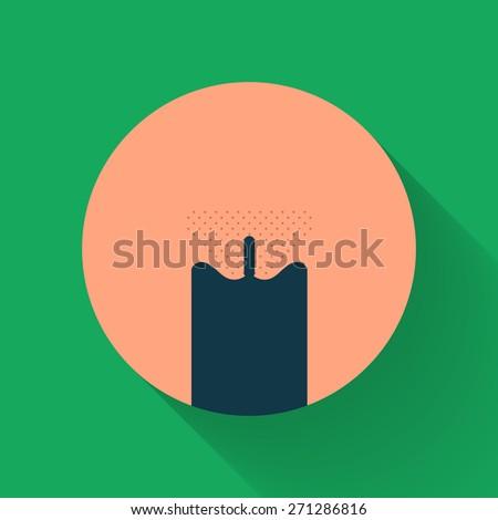 Vagina Flat Style Symbol Illustration - stock vector