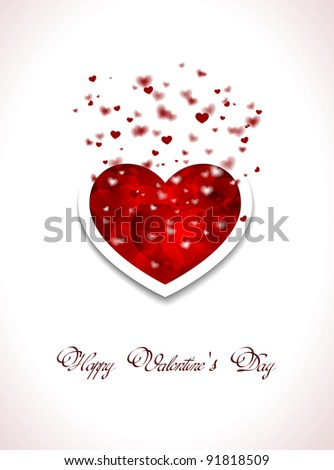 Valentin`s Day card with hearts