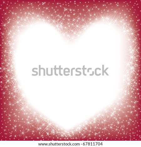 Valentin`s Day card with sparks - stock vector