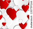 Valentine background Seamless pattern with hearts Spring background Vector illustration  - stock