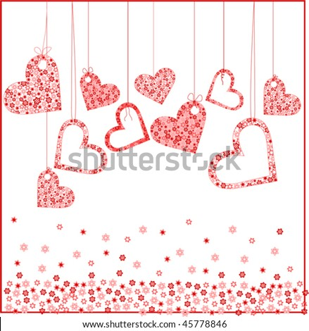 valentine background with heart vector - stock vector