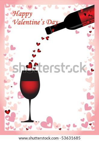 Valentine Card - stock vector