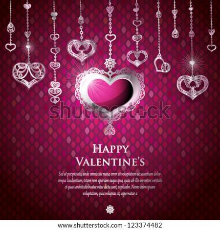 Valentine card design. Vector illustration. - stock vector
