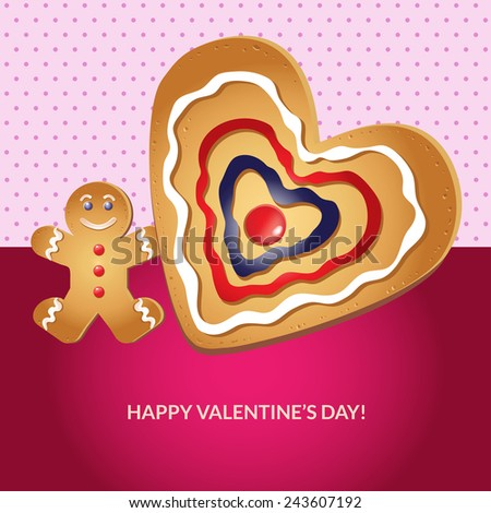 Valentine card. Elements for cards, gifts, crafts, invitation. Vector illustration - stock vector