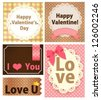 Valentine Card - Vector File EPS10 - stock vector