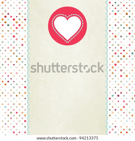 Valentine card with heart. And also includes EPS 8 vector