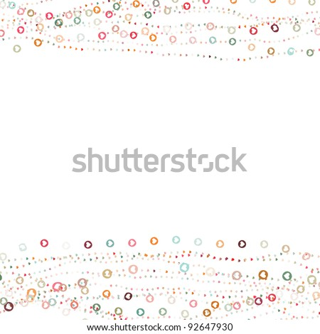 Valentine card with placeholder. And also includes EPS 8 vector - stock vector