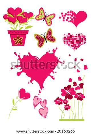 Valentine clip-art - stock vector
