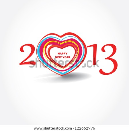 Valentine day 2013 . Abstract poster. Vector - stock vector