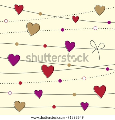 Valentine day background - stock vector