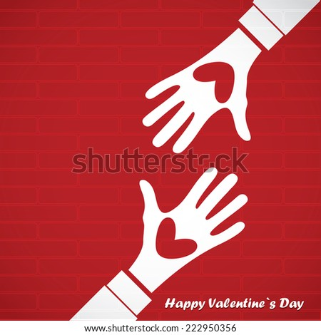 valentine day card. vector illustration