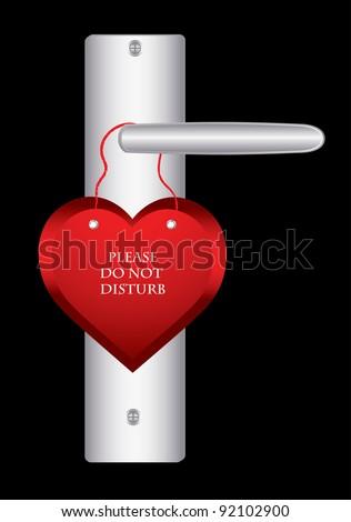 Valentine day door hanger - stock vector