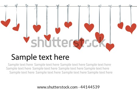 valentine day flyer background - stock vector