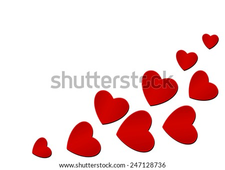 Valentine Day Heart on White Background  - stock vector