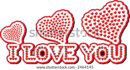 valentine day, love you - stock vector