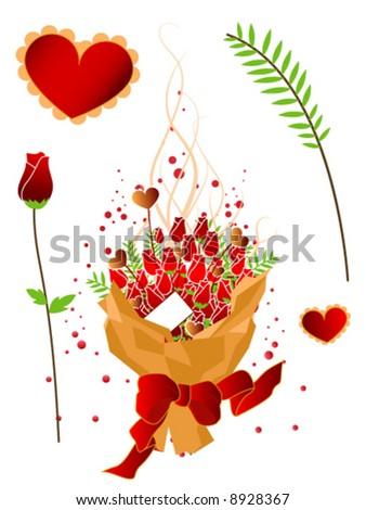 Valentine Elements - Vector - stock vector