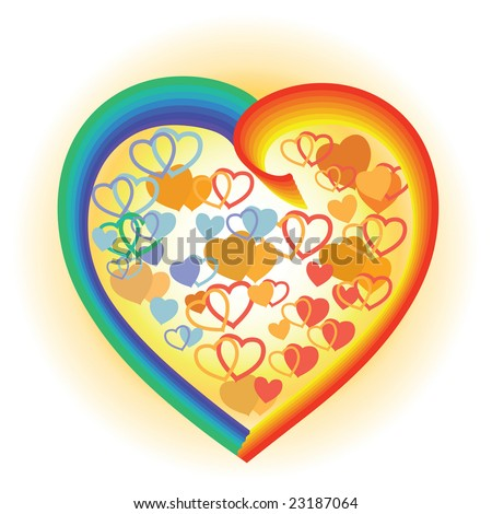 valentine heart - stock vector
