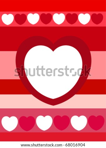 Valentine heart background with place for text