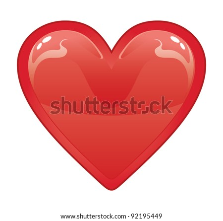 Valentine Heart is an illustration of a red valentine heart on a white background.