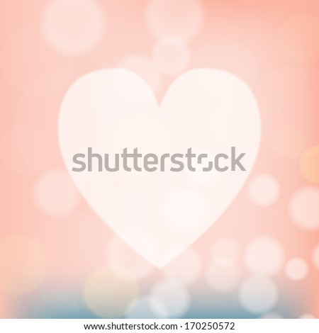 Valentine heart shaped lights background. Vector illustration.  - stock vector