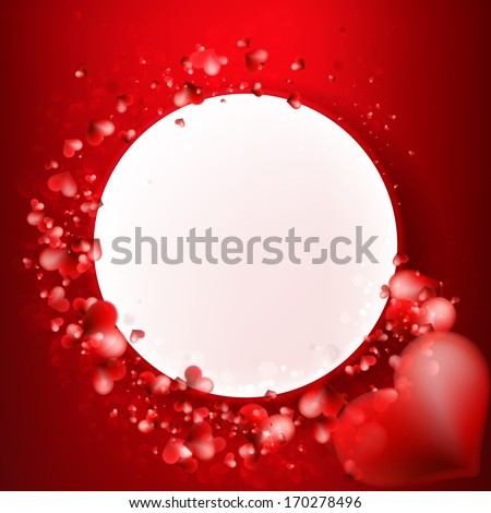 Valentine Hearts Background. Red Abstract Card. + EPS10 vector file - stock vector
