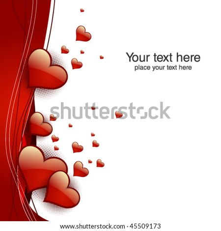 valentine hearts card. Vector illustration - stock vector