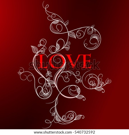 Valentine Red Background with heart