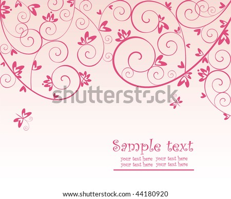 Valentine red card - stock vector