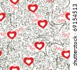 Valentine romantic vintage seamless pattern - stock vector