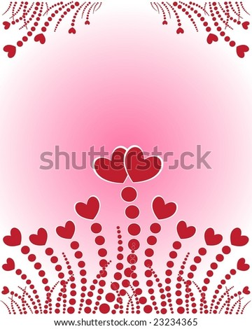 Valentine's background. Vector illustration. EPS8, all parts closed, possibility to edit. - stock vector