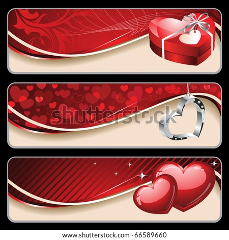 Valentine's Banners - stock vector