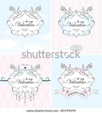 valentine's card - stock vector