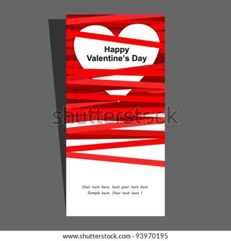 Valentine's card. Vector illustration. - stock vector