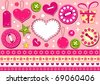 Valentine's collection for scrapbook. Vector illustration. - stock photo