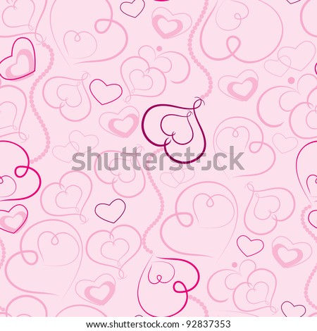 Valentine's day abstract background - stock vector