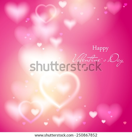 Valentine's Day. Abstract background. Vector Eps 10. - stock vector