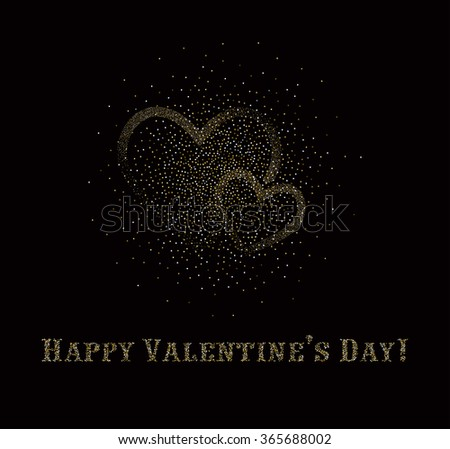 Valentine's day abstract background with red and white hearts with festive light - stock vector