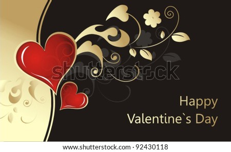 Valentine`s Day background - stock vector
