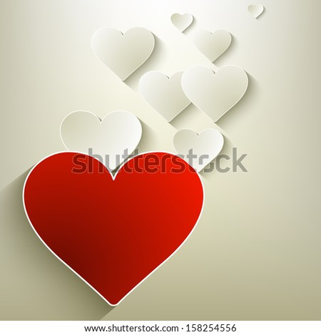 Valentine's day background. And also includes EPS 10 vector - stock vector
