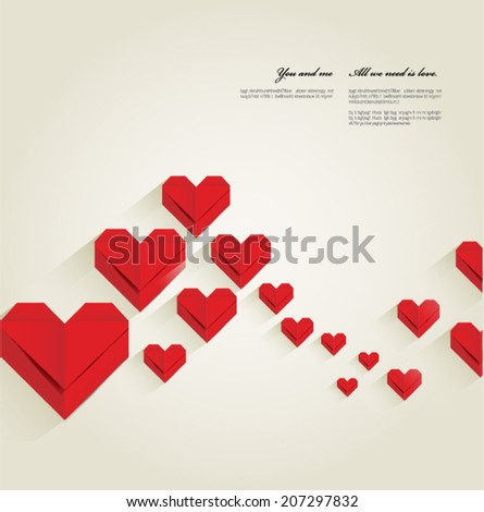 valentine's day background, vector - stock vector