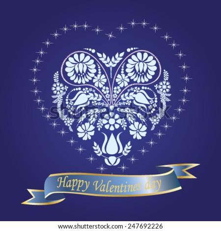 Valentine's Day background - vector illustration. - stock vector