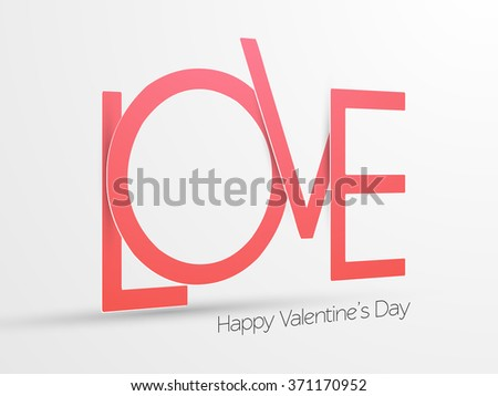valentine's day background, vector illustration. - stock vector