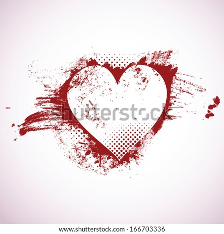 Valentine's day background with copy space (vector illustration)