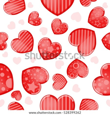 Valentineu0027s Day Background With Funny Hearts