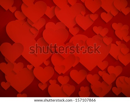 Valentine's day background with hearts. And also includes EPS 10 vector - stock vector