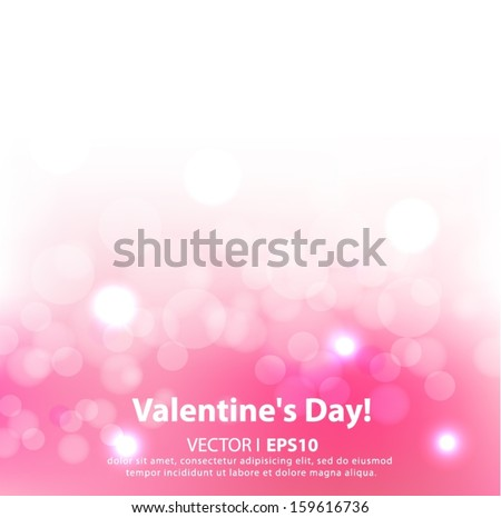 Valentine's day background with hearts. Vector EPS 10 illustration. - stock vector