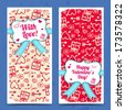 Valentine`s day banners. Design concept. Vector Illustration, eps10, contains transparencies. - stock