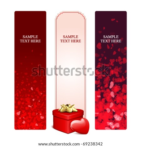 Valentine's day banners set 16 - stock vector